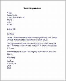 Resignation Letter Layout Free 9 Sample Resignation Letters In Ms Word Pdf