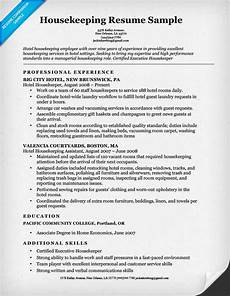 Housekeeping Resume Format Housekeeping Resume Sample Resume Companion