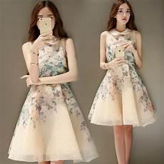 sale korean fashion lovely floral print organza a line