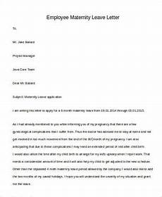 Sample Of Maternity Leave Letter For Employer Free 29 Leave Letter Templates In Pdf Ms Word