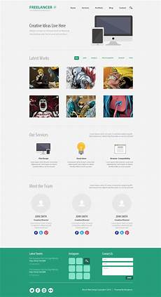 Single Page Website Templates Free Psd Minimalist One Page Website Template Designbump