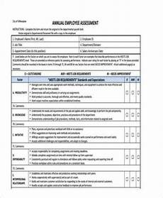 Employee Assessment Sample Free 10 Sample Employee Assessment Forms In Pdf Ms Word