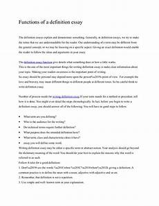 Example Of A Definition Essay Functions Of A Definition Essay