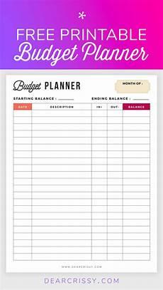 Weekly Bill Planner Free Budget Planner Printable Printable Finance Planner