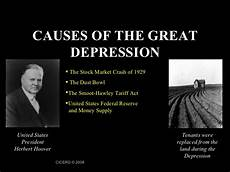 Causes Of The Great Depression Great Depression