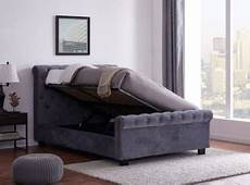 flintshire 4ft6 grey fabric ottoman bed by