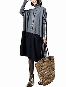 minibee womens clothes minibee s turtleneck knit sweater dress with pockets