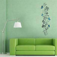 blue butterfly flower removable vinyl wall decal sticker