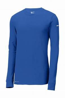 Custom Design Dri Fit T Shirts Nike Dri Fit Cotton Poly Long Sleeve Tee Performance T