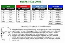 Answer Helmet Size Chart Kart Helmet Size Charts Mk Racewear