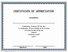Certificate Of Appreciation Doc Certificate Templates