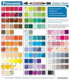 Caliart Markers 100 Color Chart Promarker Color Chart Feutres Alcool Nuancier Marqueur
