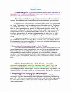 Example Of Compare And Contrast Essay Topics Compare And Contrast Essay Questions 100 Compare And