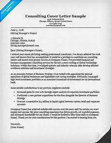 Cover Letter Consultant Consulting Cover Letter Sample Amp Writing Tips Resume