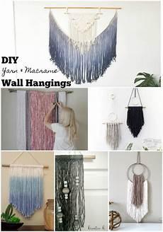 diy yarn macrame wall hangings the scrap shoppe