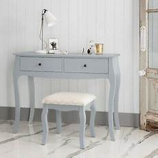 dressing table in grey with stool dresser camille