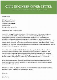 Engineering Resume Cover Letter Civil Engineer Cover Letter Example Cover Letter Example