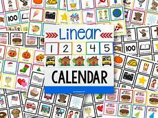 Long Pocket Chart Linear Calendar Kit Pre K Pages