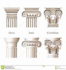Column Types Columns In Different Styles Stock Vector Illustration Of
