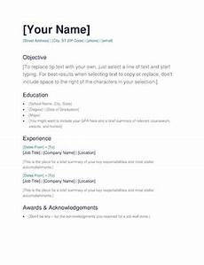 Simple Of Resume Simple Resume