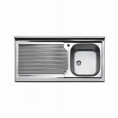 mobile per lavello lavello cucina da appoggio in acciaio 100x50 lavandino a