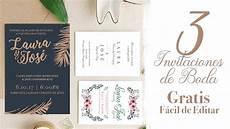 invitaciones de boda 3 invitaciones de boda gratis f 225 cil de editar