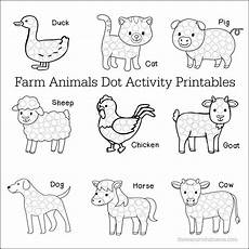 farm animals dot activity printables the resourceful