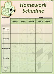 Homework Assignments Template 5 Best Images Of Printable Homework Template Weekly