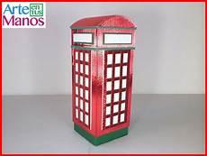 una cabina telefonica arte en tus manos con lili y sam caja en cart 243 n corrugado