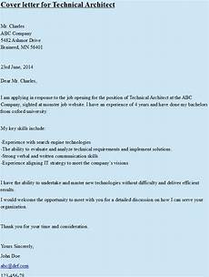 Solution Architect Cover Letter Cover Letter For Technical Architect Https Hipcv Com