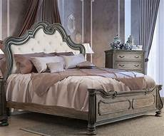 ariadne rustic tone cal king upholstered panel bed