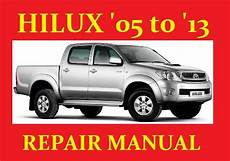 Toyota Hilux Hi Lux Vigo 2005 To 2013 Workshop Service