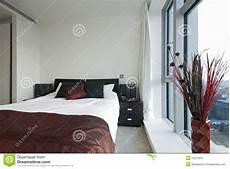 da letto doppia doppia da letto moderna fotografia stock immagine
