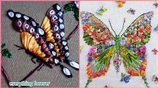 gorgeous work silk embroidery butterflies patterns