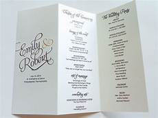 How To Make A Wedding Program Scripted Pearl Shimmer Trifold Wedding Programs Wedding
