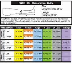Knee High Ted Hose Size Chart Best Picture Of Chart