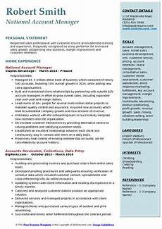 Resume Objective Account Manager Account Manager Resume Samples Qwikresume