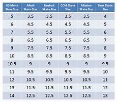 Ccm Ice Skates Size Chart Sizing Guide For Inline Hockey Skates