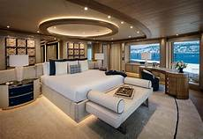 the interior design of the 243 foot superyacht cloud