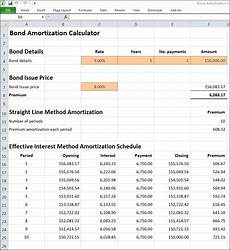 Amortization Of Bond Premiums Bond Amortization Calculator Double Entry Bookkeeping
