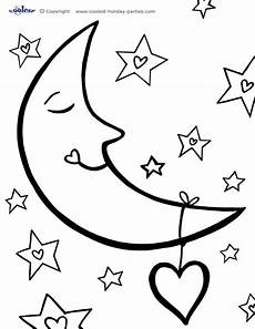 moon coloring pages to and print for free