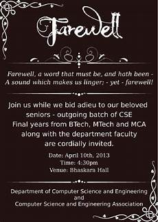 Invitation Card For Farewell Party To Seniors Farewell Party Invitation For College Seniors Farewell