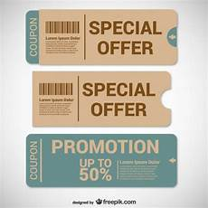 Coupon Downloads 20 Free Coupon And Gift Voucher Templates Vector Download