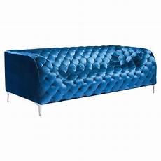 Blue Velvet Tufted Sofa 3d Image by Providence Sofa Tufted Blue Velvet Dcg Stores
