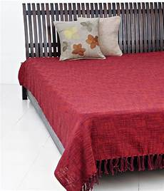 fabindia plain cotton woven chaman bed cover