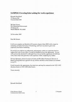 Work Experience Letter Format Cover Letter For Work Experience Placement Planner
