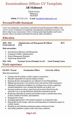 How To Cover Letter Examinations Officer Cv