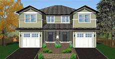 side by side craftsman duplex house plan 67717mg