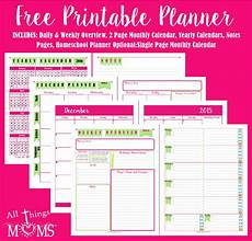 Free Printable Monthly Planner Printable Planner All Things