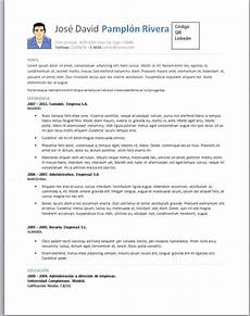 Curriculum Vitae Word Modelos De Curriculum Vitae En Word Para Completar